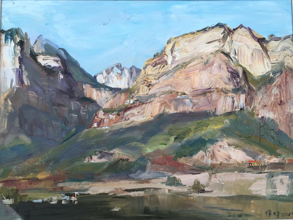 壁纸 风景 油画 1024_768